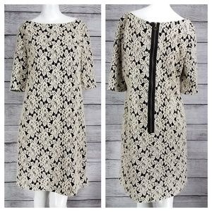 Adrianna Papell Shift Dress Floral Textured lace